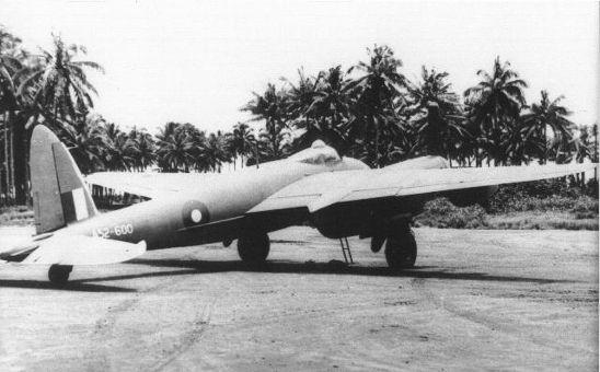 A52-600 at Morotai in 1945 while deploying to Labuan Borneo.De Havilland, Mosquito, DH98, A52-600