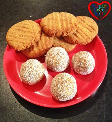 Sugar Free Kids Easy Peasy Cookies and sugar free raw balls....mmmmmm yes!