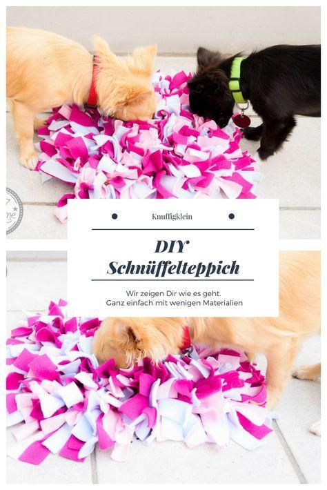 Schnüffelteppich DIY für Hunde und Katzen Zur Beschäftigung und als Spielzeug. Schnüffeln, Konzentration, Stressabbau. Dies alles fördert der Teppich