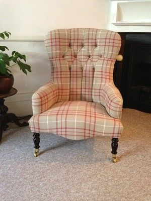 Ocassional Chair Upholstered In Laura Ashley Keynes Cranberry   eBay