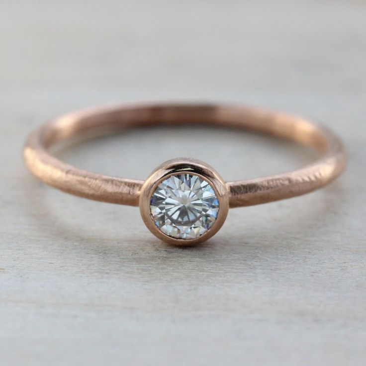 modern minimal ethical wedding jewelry from aide mmoire - Engagement Ring And Wedding Ring