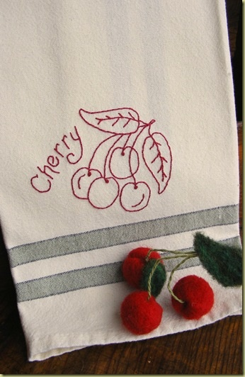 Sweet Cherry Redwork