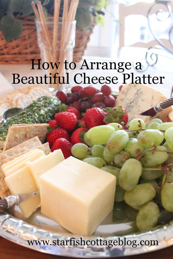 Large platters of cheese, fruit and crackers are one of my go-to ideas for easy entertaining....