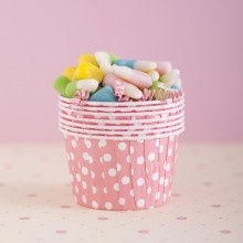Image 1: Pink Polka Dots, Cotton Candy, Minis Cups, Ice Cream, Hold Candy, Minis Cupcake, Baby Sprinkles, Dots Portion, Dots Nut