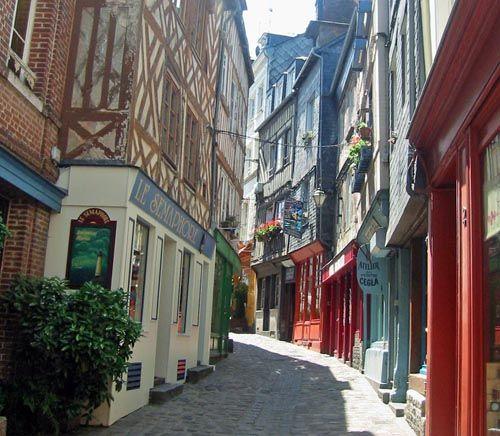 Streets of Honfleur, France
