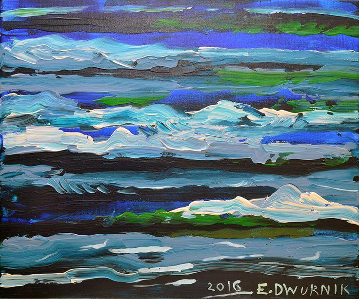 """ArtGalery ° PERSONALART.PL tytuł/title: """"Morze""""/""""Sea"""" autor: Edward Dwurnik personalart.pl/Edward-Dwurnik"""