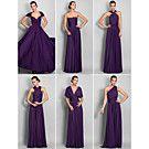 [CyberWeekSale]Bridesmaid Dress Asymmetrical Jersey Sheath Column Convertible Dress (633752) - USD $ 94.99