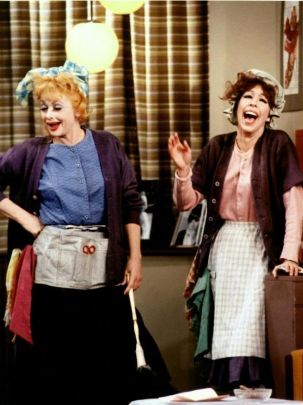 Lucille Ball And Carol Burnett :) This is the epitome of perfection.