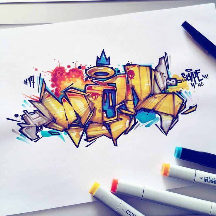 Граффити скетч картинки