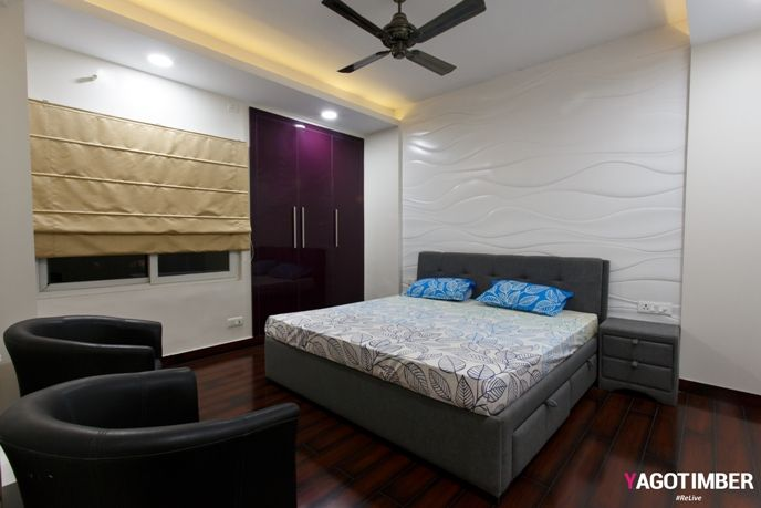 Recognising a need is the primary condition to design. Here are some bedroom design which will rejuvenate your mood. Browse these live #bedroom design ideas for your residential space. BEDROOM INTERIOR DESIGN Design Concept : Contemporary Property Type: 4 BHK Project Location : Noida, Uttar Pradesh Designed by Yagotimber.com Fabric, ISI marked ply, MDF paneling with high gloss PU. #bedroomdesign #interiordesign #Yagotimber