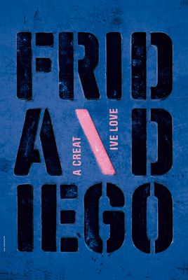 Apeloig - Frida and Diego - A creative love Hommage à Frida Kahlo et Diego Rivera Commande pour AGI Alliance Graphique Internationale