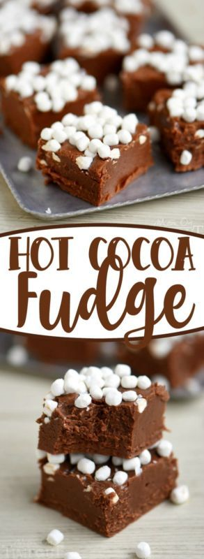 Creamy and decadent, this Hot Cocoa Fudge is perfect for chilly afternoons! Easy to make, no candy thermometer required! | eBay