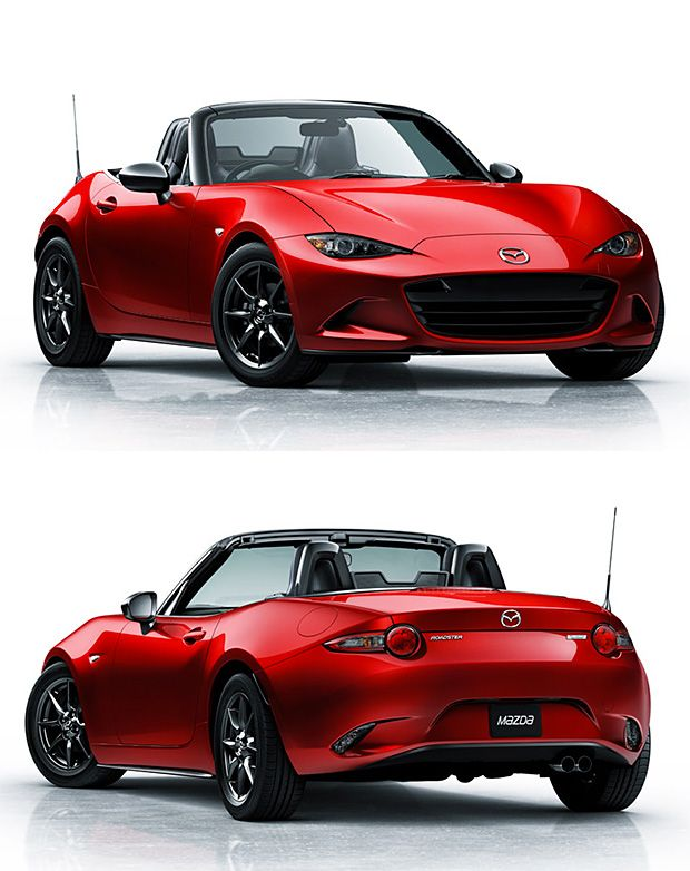 2016 Mazda MX-5 Miata  Low, light, and easy to modify, the Mazda Miata has long been a favorite of weekend track-day racers. The 2016 MX-5 Miata was just unveiled and though performance specs have not been released yet, this new model is 220-lbs. lighter than the last model and with Mazda's Kodo Design, it is visibly lower and wider, as well.