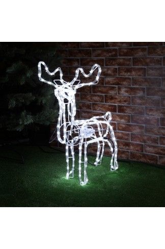 A classic standing animated Christmas Reindeer with energy saving