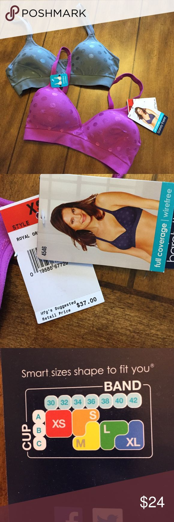 2 brand New barely there wireless comfort bras 2 bras one with tags the other without. Both same size. XS fits A/B 30-32 barely there Intimates & Sleepwear Bras