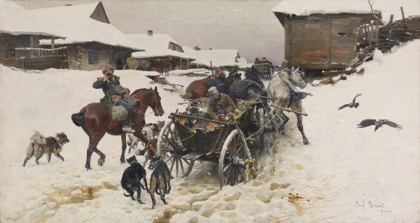 Wyjazd na Polowanie - Józef Brandt