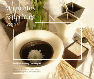 Velas decorativas Casiopea. Formas diversas nos brindan ambientes cálidos e íntimos.
