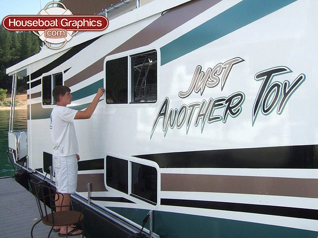 Homeawayfromhome Justanothertoy Check Out These Custom - Custom houseboat vinyl decals