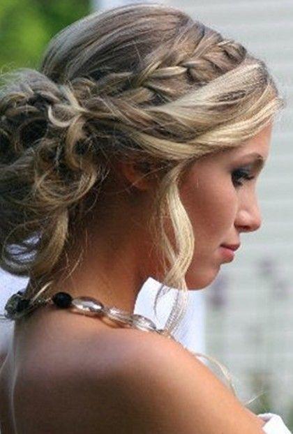 Wedding hair updo with braid   Braid Updo Hair Styles for Wedding, Prom   Popular Haircuts