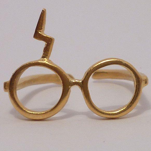 Anel no formato do óculos do Harry Potter