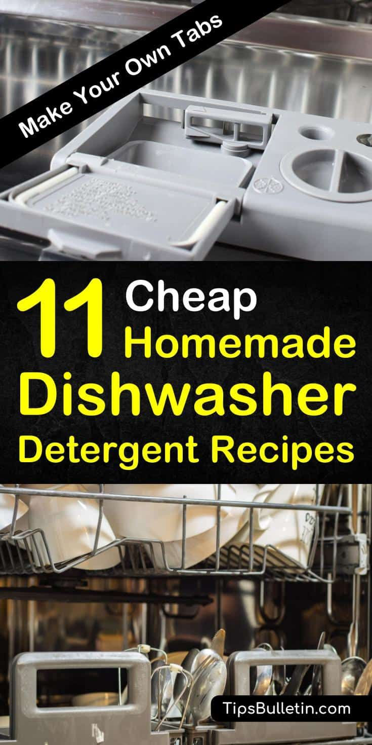 11 Easy Ways To Make Your Own Dishwasher Detergent Homemade