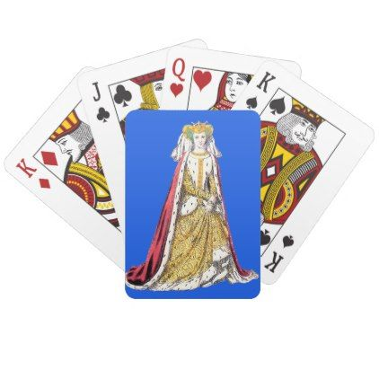 COSTUMES Catherine of Valois Henry 5th  1420 Playing Cards - traditional gift idea diy unique