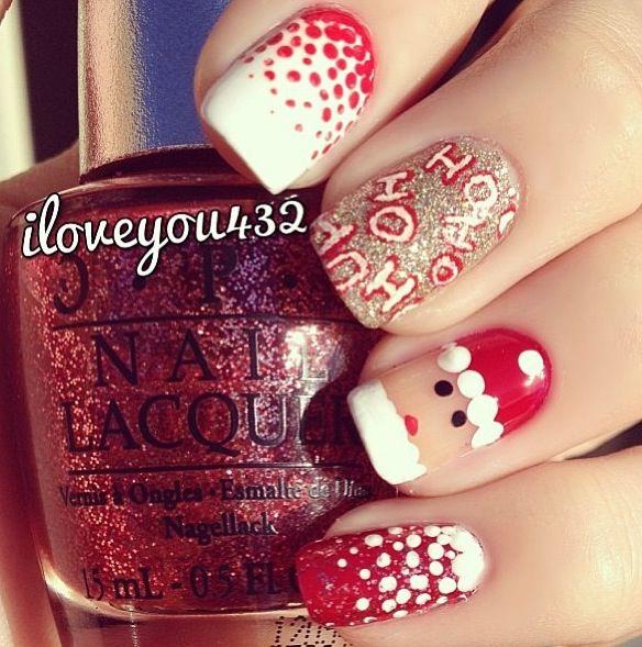 Cute Santa Claus Nail Designs