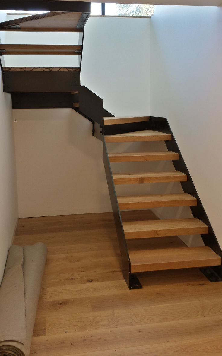 French oak engineered  floor  with stairs made from the floor by Nash Timbers