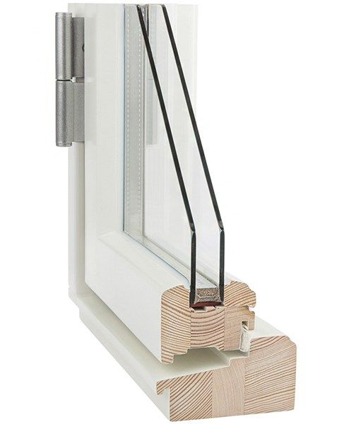 Ekstrands Sverige104 fönster trä Profil A 1.3w/(m2K) i gammal stil utan dropplist. #Ekstrands #fönster #Sverige104 #genomskärning #utåtgående
