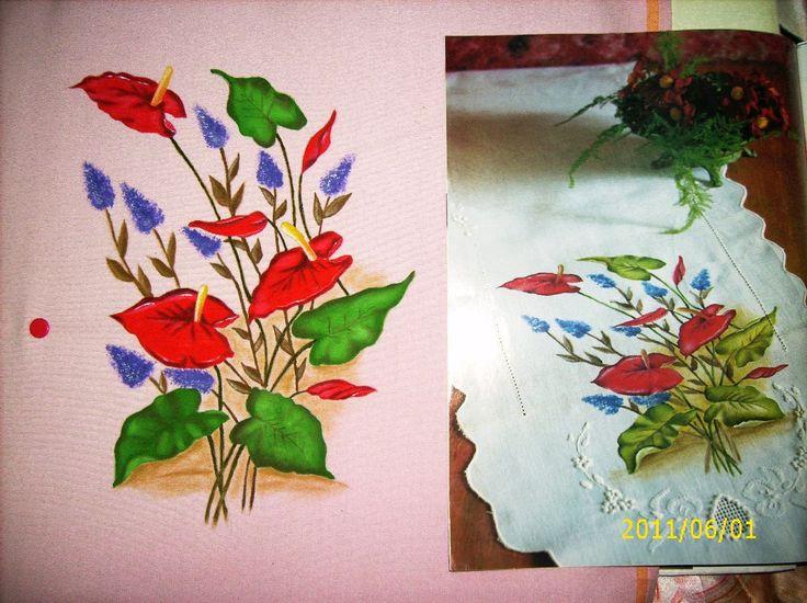 506 mejores im genes sobre pintura tela manteles caminos - Pintura en tela dibujos ...
