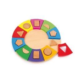 Círculo de figuras geométricas