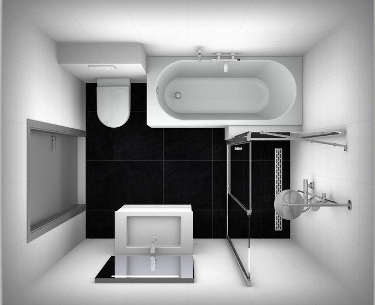 17 best images about badkamer inspiratie on pinterest toilets towels and tile for Plan kleine badkamer