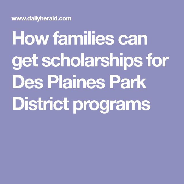 How families can get scholarships for Des Plaines Park District programs
