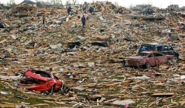 The devastation in Peoria Ill. Area. Many towns in Illinois were hit with tornadoes today. Please send your prayers.