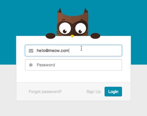 ReadMe- The owl covers her eyes while you type your...