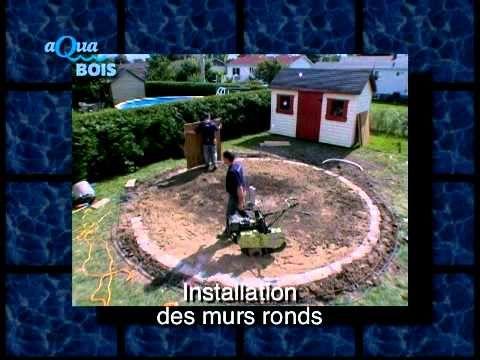 Installation piscine ronde hors-sol ou semi-creusée