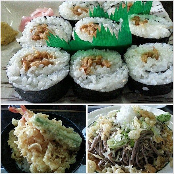#nattoumaki #tendon #oroshisoba for #lunch #yummy #japanese #food #philippines #納豆巻 #天丼 #おろしそば #ランチ #フィリピン