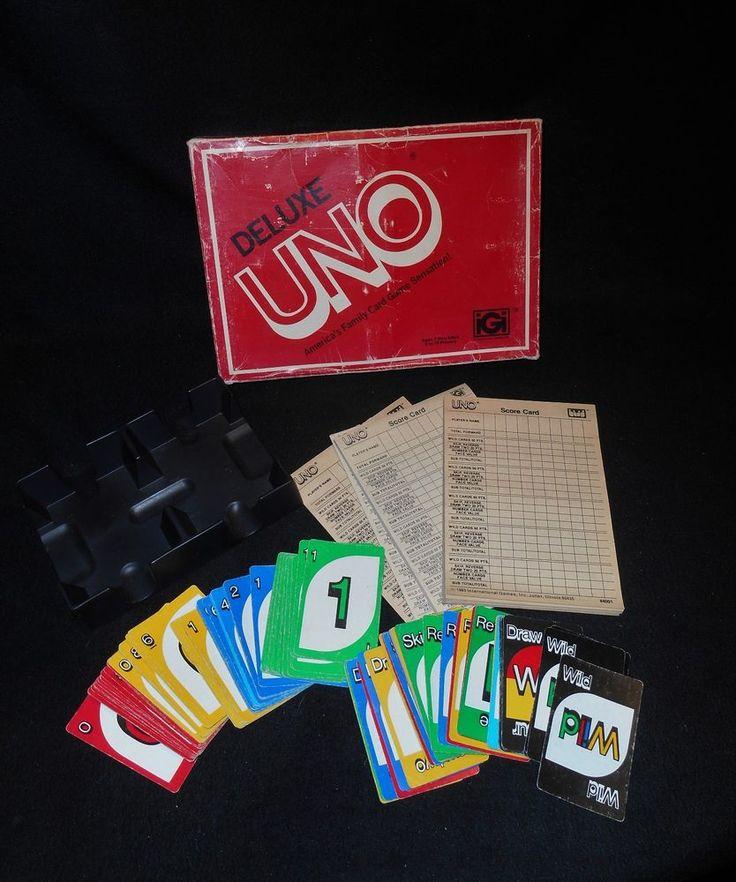 Uno Deluxe Card Game Vintage 1978 International Games Complete #InternationalGamesInc