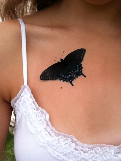 Flutterfly crawling over my chest = Perfection. #beauty