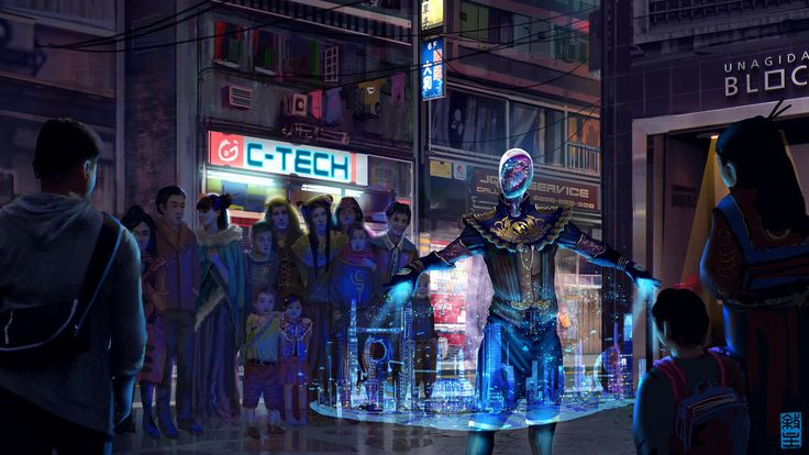 Concept Art Writing Prompt: The Projection Man