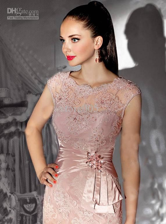 mothers of the brides dresses short length   ... Cap Sleeve Short Beaded Lace Mother of the Bride Dresses Gowns E3107