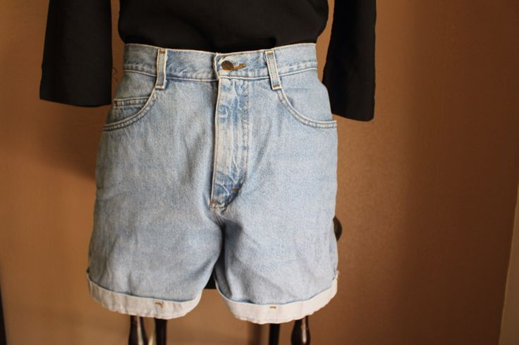 Vintage High-Waisted Jean Shorts From Riders // Size 6-7 by thebelovedbear on Etsy https://www.etsy.com/listing/281491534/vintage-high-waisted-jean-shorts-from