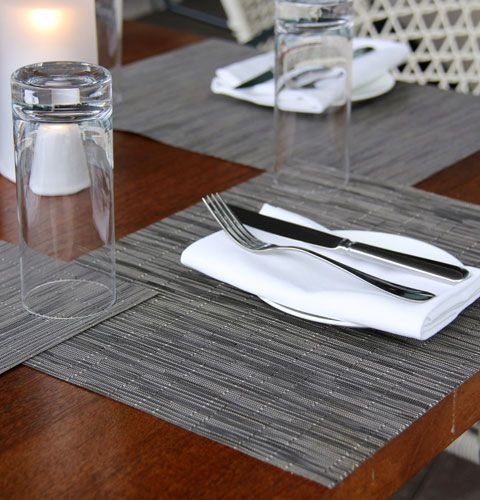 Riverpark Restaurant in New York featuring Bamboo Chilewich placemats