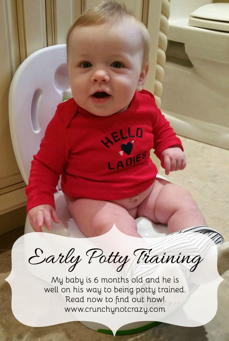 My baby is 6 months old and he is well on his way to being potty trained. Read now to find out how! Early potty training, infant potty training, baby potty training, elimination communication, EC