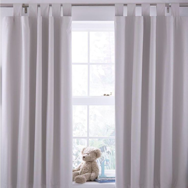 N/A Cream Plain Tab Top Blackout Children's Blackout Curtains (W)168 cm  (L)137 cm - Best 25+ Childrens Blackout Curtains Ideas On Pinterest Grey