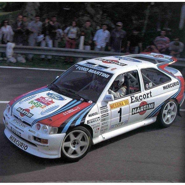 ra Franco Cunico - Stefano Evangelisti-Ford Escort RS Cosworth Gr.A-Team Jolly Club-Rally Internazionale di Messina 1995