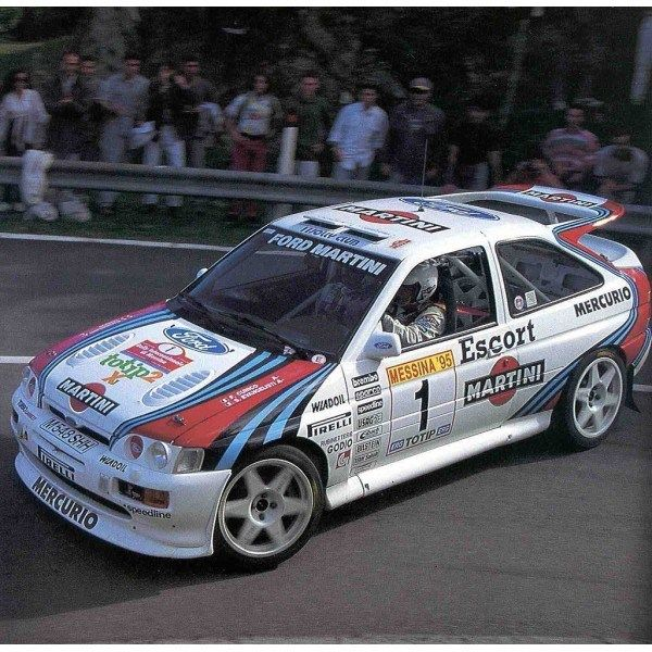 ra Franco Cunico - Stefano Evangelisti-Ford Escort RS Cosworth Gr.A-Team Jolly Club-Rally Internazionale di Messina 1995