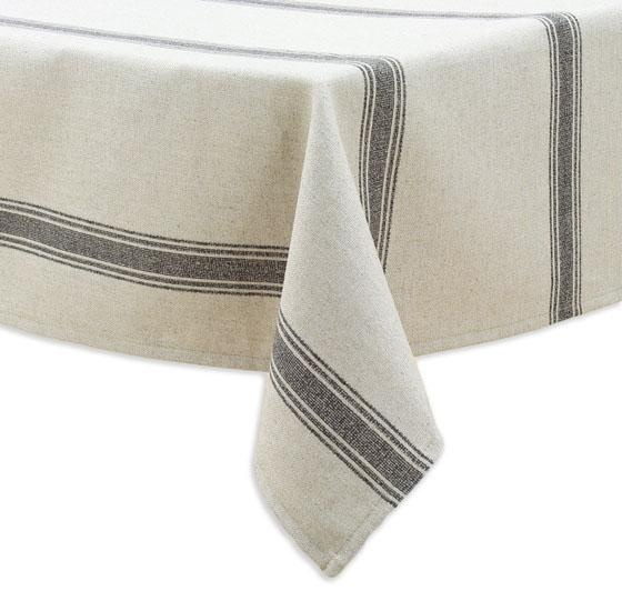 Crestmont Black Collection Table Cloth- round for banquette area: Hemmings Tablecloths, Stripes Tablecloths, Black Palai, Kitchens Goodies, Banquettes Area, Crestmont Black, Black Collection, Kitchens Phil, Palai Stripes