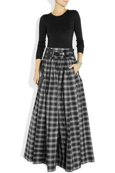 Michael Kors Taos plaid silk-blend taffeta maxi skirt, $2,995