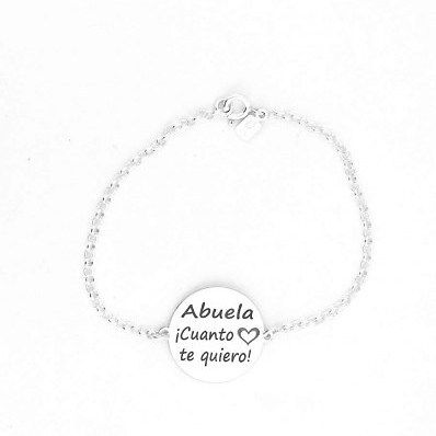 Bonita #pulsera con la inscripción #ABUELA CUANTO TE QUIERO va a flipar tu abuelita cuanto le regales esta pulsera. http://ift.tt/2iANp5e